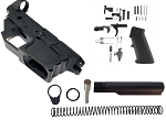 New Frontier Armory 9mm Stripped Lower reciever with Lower Parts Kit and Buffer tube Kit