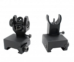 AR-15 Front and Rear Flip Up Sights