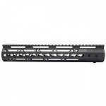 New AR15 12 Inch Ultra Slim Keymod Handguards W/ Steel Barrel Nut