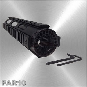 AR-15 Free Float Quad Rail Handguard Mid Length 10""